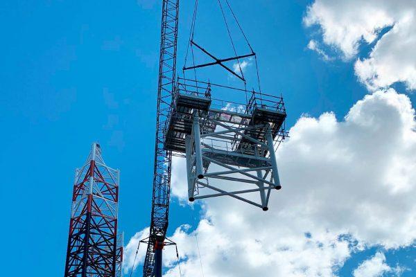 Radar mast web